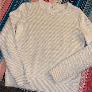 white/cream crewneck sweater